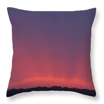 Sunset Beams Throw Pillow