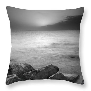Sunset Before The Storm Throw Pillow by Guido Montanes Castillo