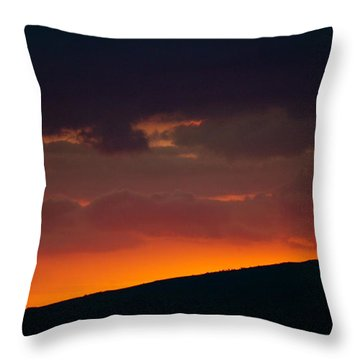 Sunset Beyond The Waianae Mountain Range Throw Pillow