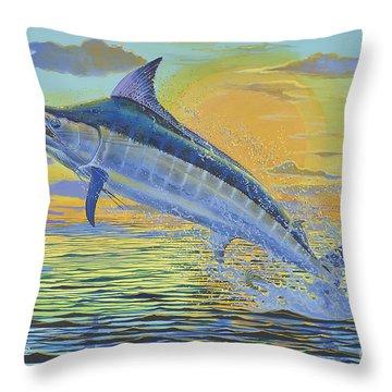Sunset Blue Off0085 Throw Pillow