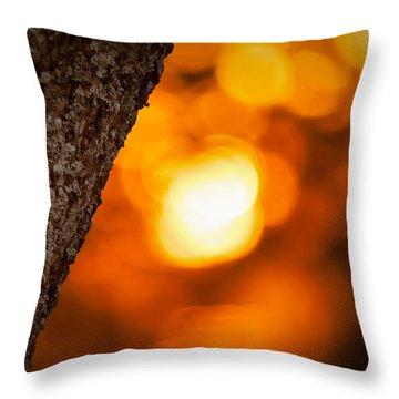 Sunset Bokeh Throw Pillow