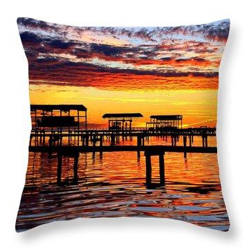 Sunset Breeze Throw Pillow