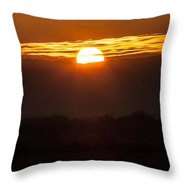 Sunset Throw Pillow by Brian Williamson