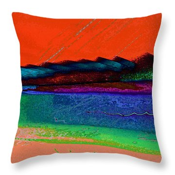 Sunset By The Lake Throw Pillow