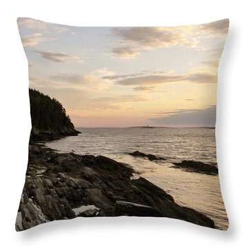Sunset By The Sea Throw Pillow by Jean Goodwin Brooks