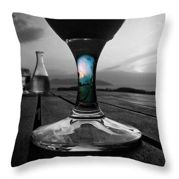 Sunset Cafe Throw Pillow