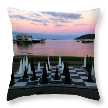 Sunset Chess At Half Moon Bay Throw Pillow