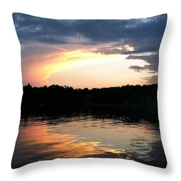 Sunset Circle Of Light 'n Reflection Throw Pillow