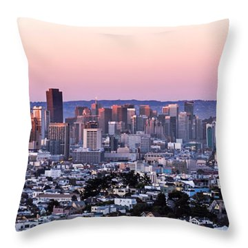 Sunset Cityscape Throw Pillow