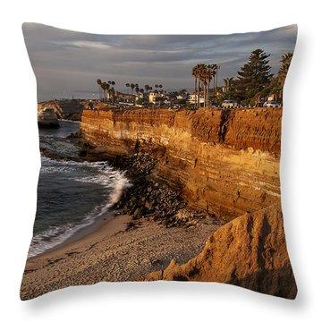 Sunset Cliffs 1 Throw Pillow