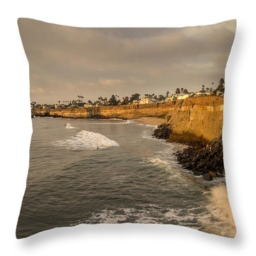 Sunset Cliffs 4 Throw Pillow by Lee Kirchhevel