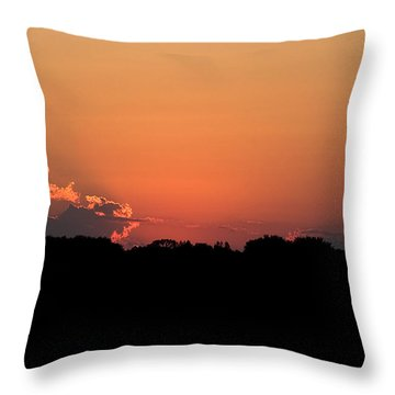 Sunset Clouds Throw Pillow by Mark Russell