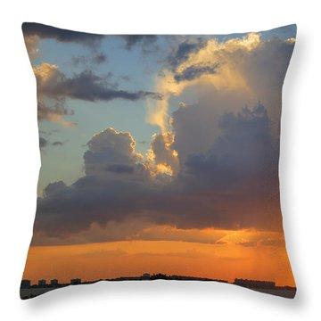 Sunset Shower Sarasota Throw Pillow