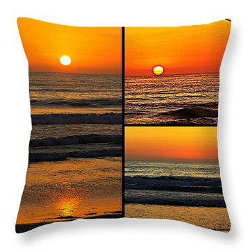 Sunset Collage Throw Pillow by Sharon Soberon
