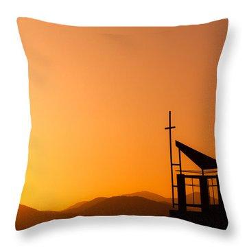 Sunset Cross Throw Pillow