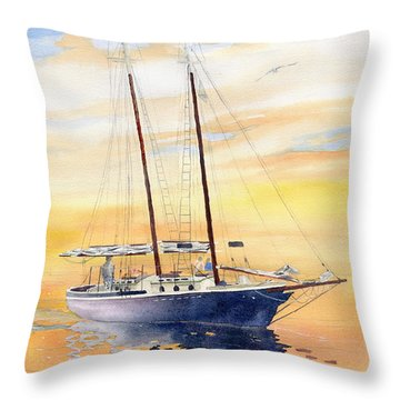 Sunset Cruise Throw Pillow