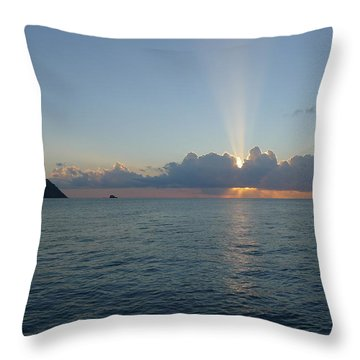 Sunset Cruise - St. Lucia 2 Throw Pillow