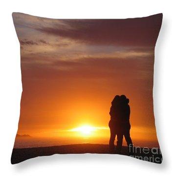 Sunset Cuddle Throw Pillow