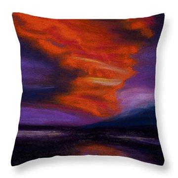 Sunset Throw Pillow by Dana Strotheide