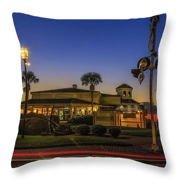 Sunset Diner Throw Pillow