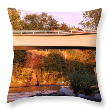 Throw Pillow featuring the photograph Sunset Dip by Melanie Lankford Photography