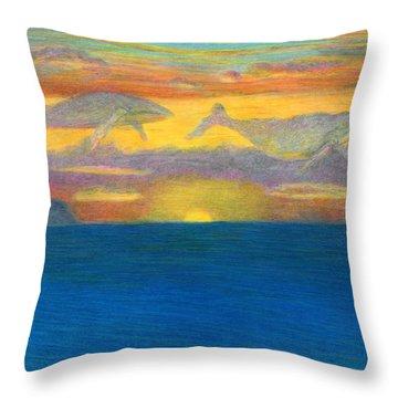 Sunset Drifters Throw Pillow by Kenneth Grzesik