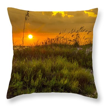 Sunset Dunes Throw Pillow