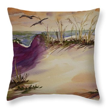 Sunset Dunes Throw Pillow by Roxanne Tobaison