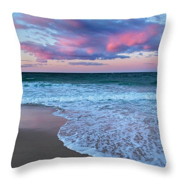 Sunset East Square Throw Pillow