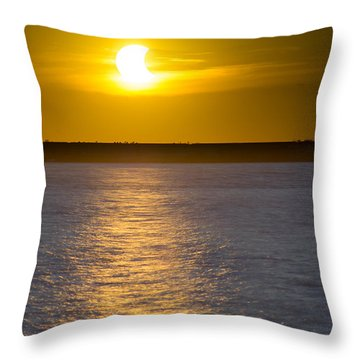 Sunset Eclipse Throw Pillow