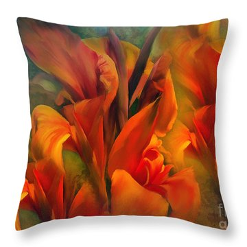 Throw Pillow featuring the painting Sunset by Elaine Manley