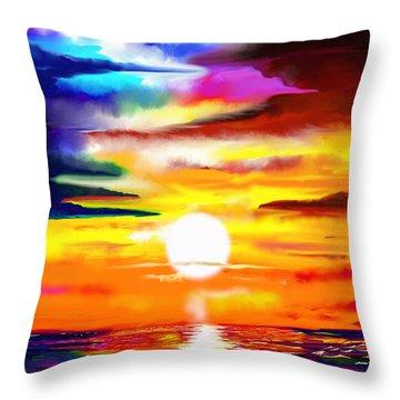 Sunset Explosion Throw Pillow