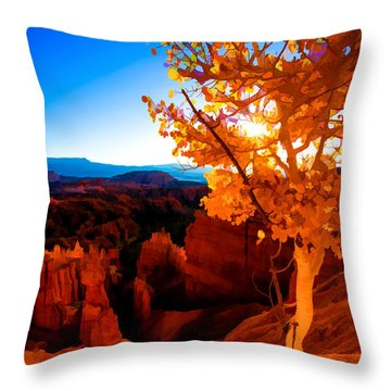 Sunset Fall Throw Pillow by Chad Dutson