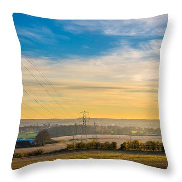 Throw Pillow featuring the photograph Sunset Fields by Gary Gillette