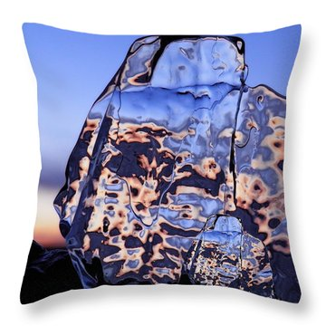 Sunset Fish Throw Pillow by Sami Tiainen