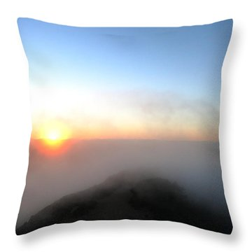 Sunset Fluff Throw Pillow by Paul Foutz