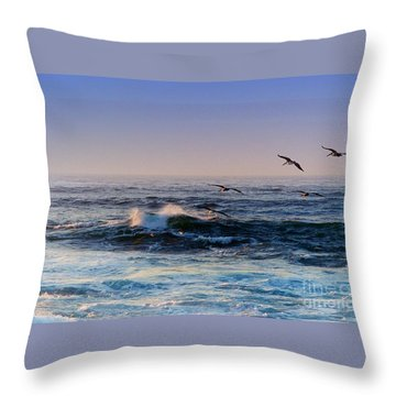 Sunset Fly Throw Pillow by Kathy Bassett