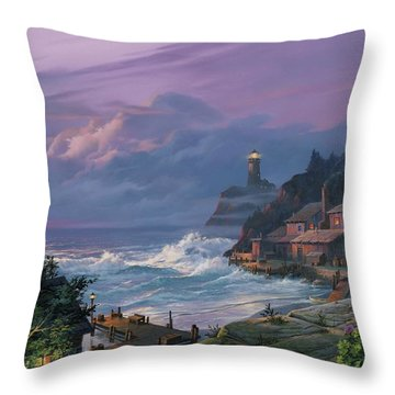 Sunset Fog Throw Pillow by Michael Humphries