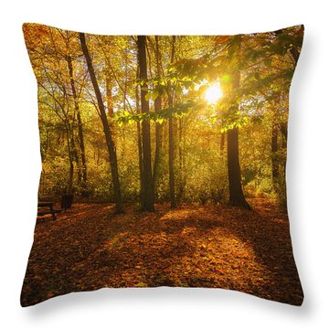 Sunset Forest Throw Pillow