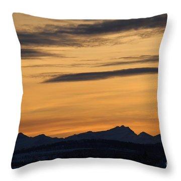 Sunset From 567 Throw Pillow