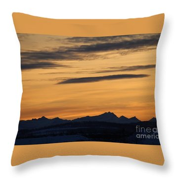 Sunset From 567 Throw Pillow