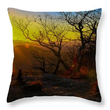 Sunset From Blood Mountain Throw Pillow