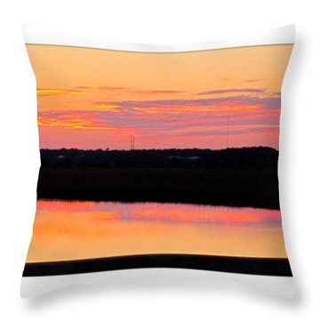 Sunset From Iop Throw Pillow