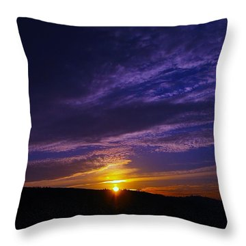 Sunset From Lyle Wa Throw Pillow by Jeff Swan