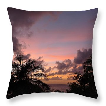 Sunset From Terrace 3 St. Lucia Throw Pillow