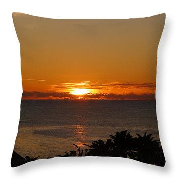 Sunset From Terrace - St. Lucia 2 Throw Pillow