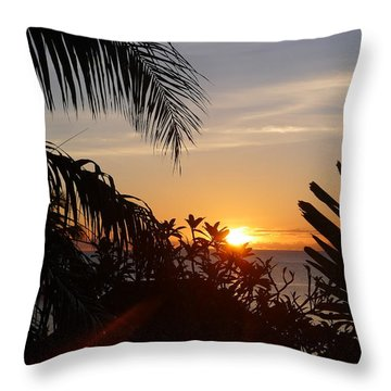 Sunset From Terrace - St. Lucia Throw Pillow