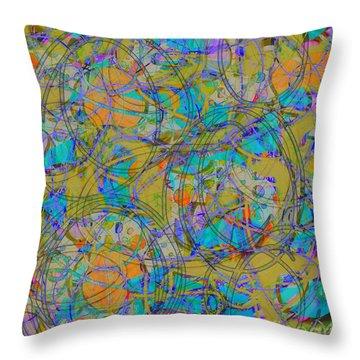 Throw Pillow featuring the digital art Sunset by Gabrielle Schertz