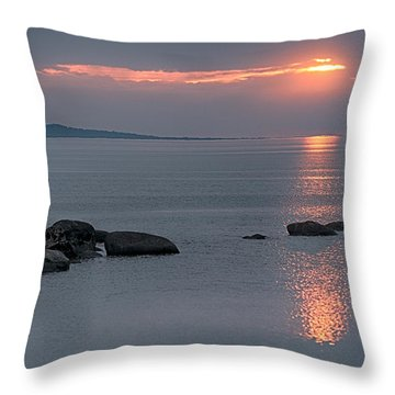 Sunset Glow At Awenda Beach Throw Pillow