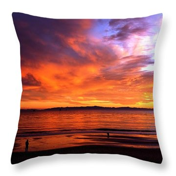 Throw Pillow featuring the photograph Sunset Glow by Sue Halstenberg